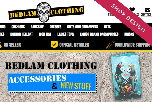 Bedlam Clothing eBay Shop Design