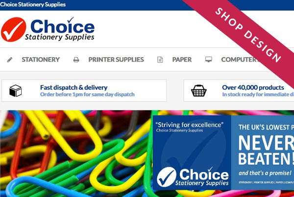 Choice Stationery eBay shop design